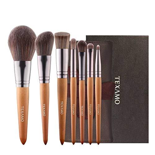 Pinceau de maquillage LHY- Bois Couleur Set 7 Sticks Pinceau Fond de Teint Maquillage Pinceau Poudre Blush Pinceau Mode
