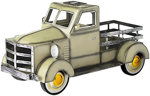 Bedspread Maceta Solar para camioneta Pickup, Maceta pequeña para camioneta con Adorno de jardín Ligero para automóvil, macetas Vintage de Estilo Retro para decoración de Escritorio/jardín/va