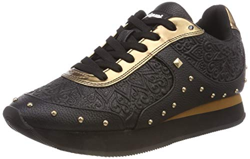 Desigual Damen Shoes_Galaxy Winter VALKIRIA Sneaker, Schwarz (Negro 2000), 39 EU