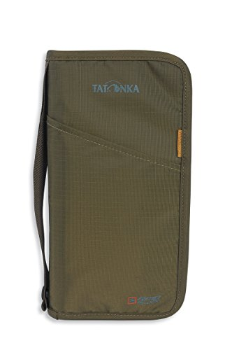 Tatonka Unisex– Erwachsene Geldbeutel Travel Zip L RFID B Geldaufbewahrung, olive, L (23 x 13 x 3 cm)