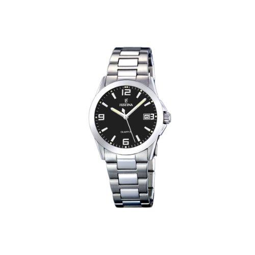 Festina Damen Analog Quarz Uhr mit Edelstahl Armband F16377/4
