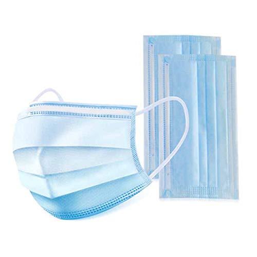 König Design 50 Stück Einweg OP-Maske Gesichtsmaske 3-lagig Mundschutz Staubschutz Infektionsschutz Schutzmaske Atemschutzmaske mit Ohrschlaufen schützt vor Verschmutzungen