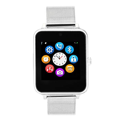Smartwatch Z60 Pro | Update Bonn | Bluetooth Uhr kompatibel mit Android iOS Windows intelligente Armbanduhr mit SIM & TF Slot 2018 Model Facebook Whatsapp Fitness IOS Android (Silber)