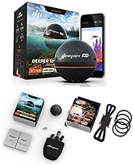 Deeper Smart Sonar Pro+ - Juego de soporte para smartphone (Wi-Fi, GPS y soporte para smartphone)