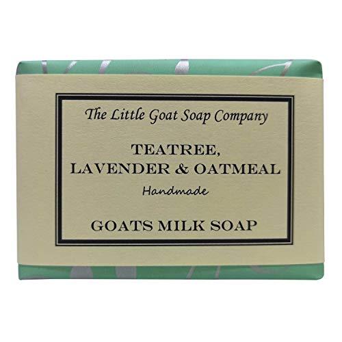 Jabón de árbol de té, lavanda y avena, con leche de cabra,...