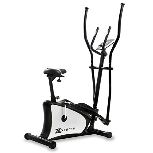 XTERRA Fitness EU150 Hybrid Elliptical/Upright Bike, Black