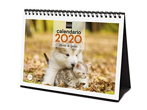 Calendario sobremesa perros y gatos 2020
