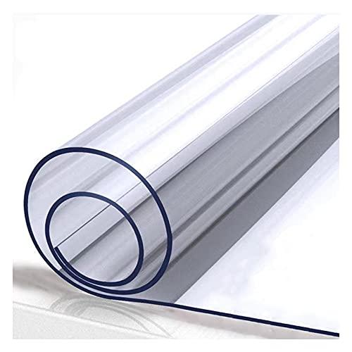ZXCASDF Mantel Protector de PVC Impermeable,transparentemantel PVC, Manteles Transparentes,Protector PVC para mesas Cocina, mesas de Comedor, Mantel, Mesa Escritorio,140x210cm/55x83in