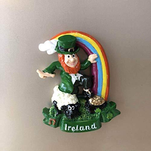 tianluo Imanes de Nevera Imanes De Nevera De Resina Irish Cartoon Dublin Animal Lamb Imanes De Nevera Irlanda Mensaje Pegatinas Imanes Lindos Decoración Regalo