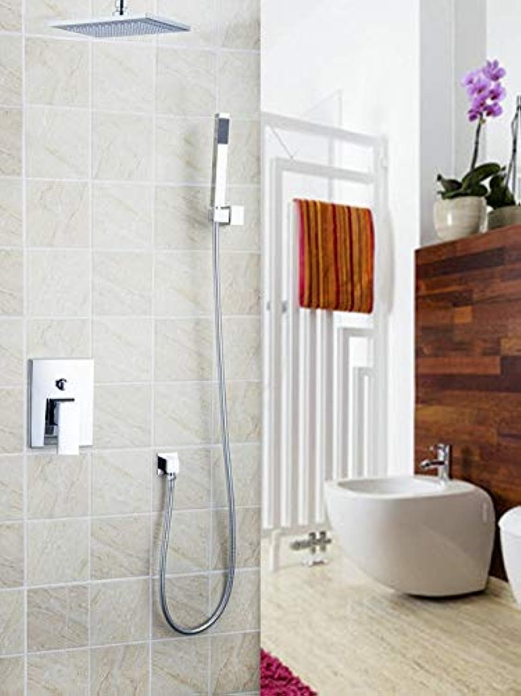 57707A Chrome 8  ABS Rainfall Shower Head Bathroom Bathtub Basin Sink Shower Set Torneira Tap Mixer Faucet,White
