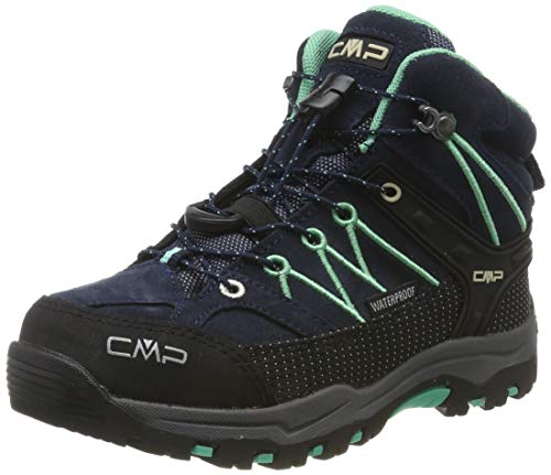 CMP Unisex-Kinder Kids Rigel Mid Shoe Wp Trekking- & Wanderstiefel, Blau (B.Blue-Aqua Mint 12nd), 32 EU