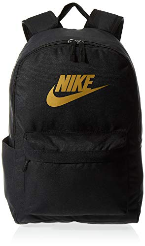 Nike Nike Heritage Backpack - 2.0, Black/Black/Metallic Gold, Misc