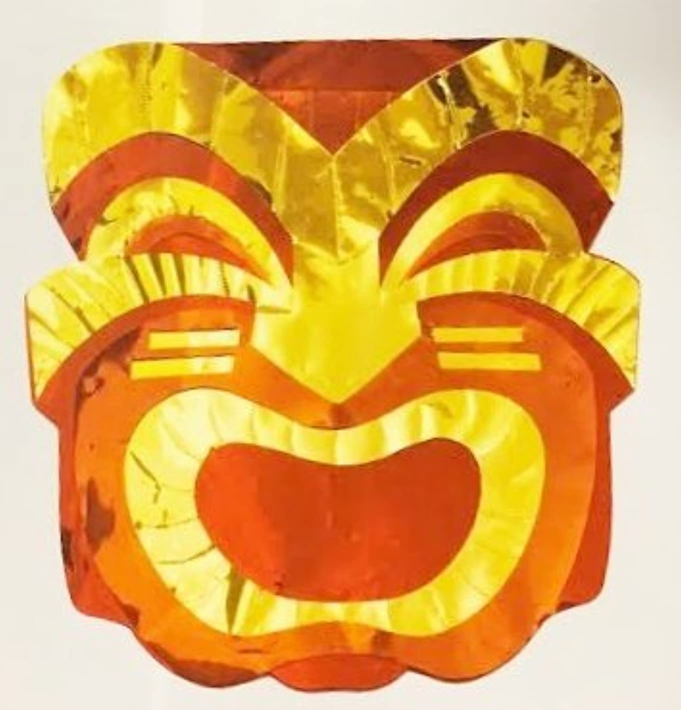 Giant Foil Cutout Tiki Mask Hawaii Beach Party Decoration (13 Inches Tall)