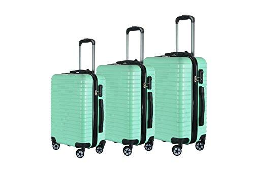 Brio Luggage Hardside Luggage 3 Piece Set- Light Green
