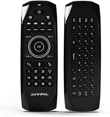 AuviPal G9 Pro Backlit 2 4GHz Wireless Air Mouse Remote with Google Voice Assistant QWERTY Keyboard product image