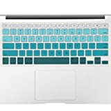 Allinside Green Ombre Keyboard Cover Skin for MacBook Pro 13' 15' 17' (2015 or Older Version), MacBook Air 13' A1369/A1466, Older iMac Wireless Keyboard MC184LL/B
