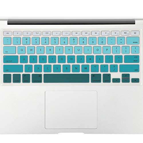 "Allinside Green Ombre Keyboard Cover Skin for MacBook Pro 13"" 15"" 17"" (2015 or Older Version), MacBook Air 13"" A1369/A1466, Older iMac Wireless Keyboard MC184LL/B"