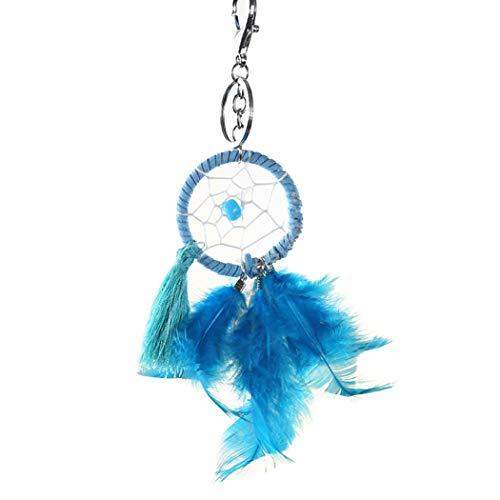 Bageek Boho Bag Charm Fake Feather Design Alloy Handbag Pendant Backpack Keychain Charm for Women