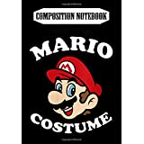 Composition Notebook: Womens Nintendo Super Mario My Mario Costume V-Neck, Journal 6 x 9, 100 Page Blank Lined Paperback Journal/Notebook