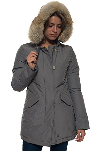 WOOLRICH WWCPS1446 Cappotto, Argentato (SVS), L Donna
