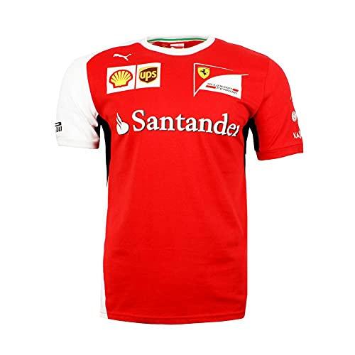 PUMA Scuderia Ferrari Herren T-Shirt Rot / Weiß NEU Baumwolle