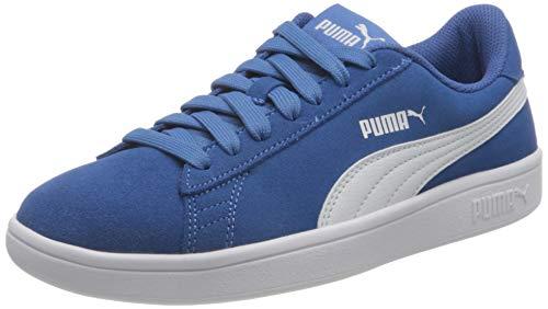 PUMA Smash V2 SD JR Sneaker, Star Sapphire Weiß, 37 EU