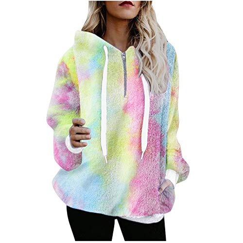 Janly Clearance Sale Blusa de manga larga para mujer, cálida para invierno, con capucha, con capucha, para mujer, para Pascua, San Patricio, regalo (vino - 4XL)