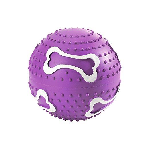 HUNTER BALL Hundespielzeug, Ballspiele, apportieren, werfen, zahnfreundlich, 12 cm, lila