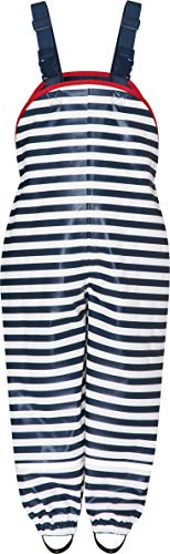 Playshoes Baby - Jungen Regenlatzhose Maritim Regenhose,, per pack Blau (Marine/Weiß 171), 80 (Herstellergröße: 80)