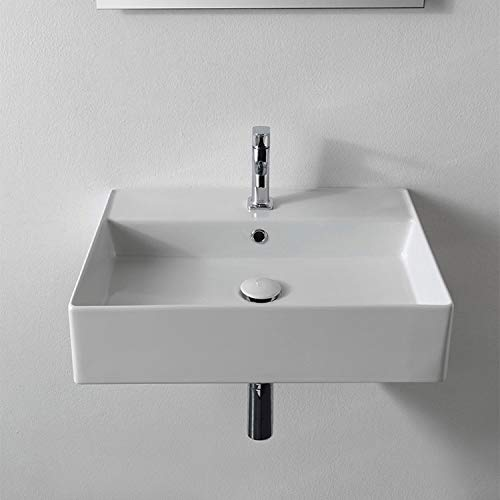 Scarabeo 5111-One Hole Bathroom Sink, One Size, White