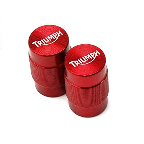 Para TRIUMPH DAYTONA 675/675 R SPEED TRIPLE 1050/1050 R Street TriPLE R Tapas de válvula de neumático de motocicleta y puños de manillar (color: válvula de neumático rojo)