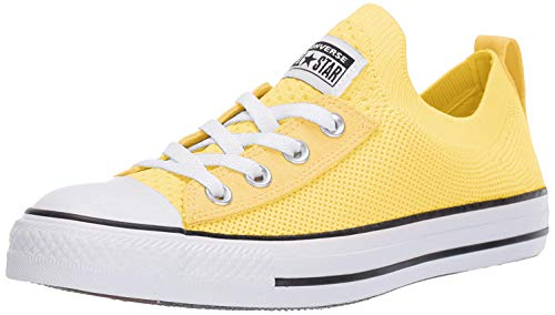 Converse Women's Chuck Taylor All Star Shoreline Knit Slip On Sneaker, Butter Yellow/White/Black, 8.5 M US