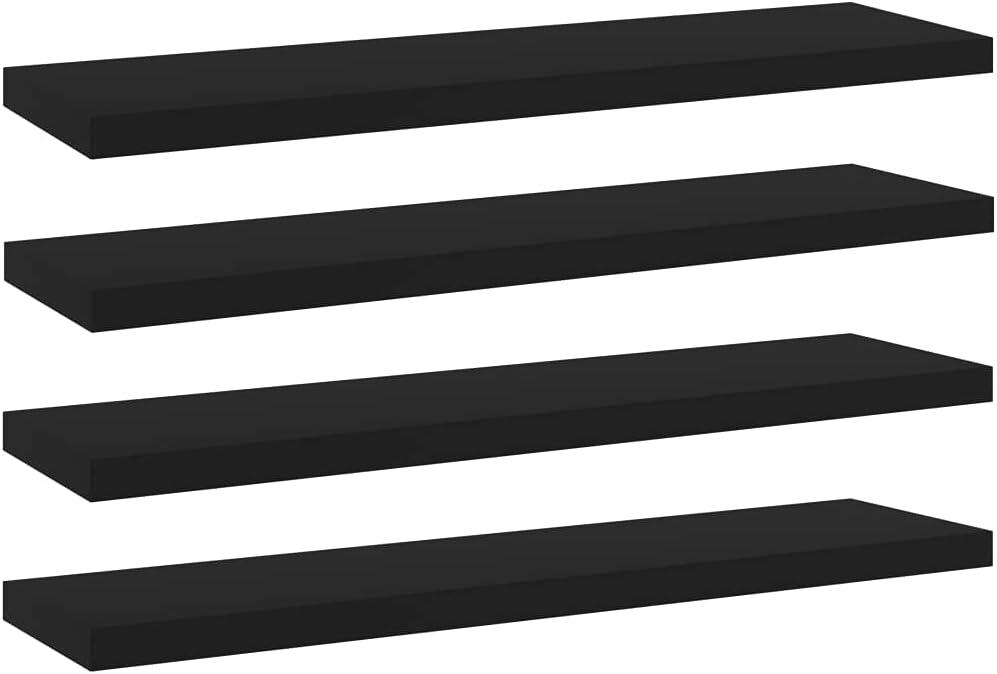 Furniking Bookshelf Boards Free Shipping Cheap Bargain Gift 4 Chipboard Max 68% OFF Black 15.7