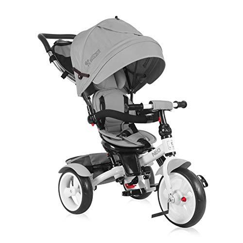Lorelli Tricycle Neo 4 in 1 Eva-Reifen, Schiebestange, Sitz drehbar, verstellbar grau