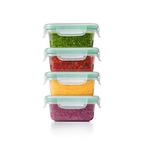 OXO Good Grips Smart Seal Container 8 Piece Mini Rectangle Plastic Set
