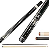 KL-01F Real Wood Inlay Pool Cue Stick with 2 Low Deflection Shafts (1 pc Carbon Fiber Shaft, 1 pc Carbon Tube Inside Wooden Shaft, 4 Pcs Carbon Tubes inside Butt, with Extension) (KL-01FB, 11.75mm)
