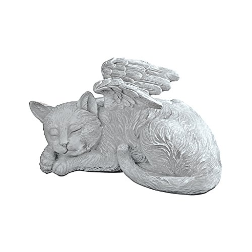 Design toscano mémorial chat pet ange statue...