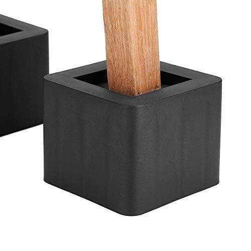 TMISHION 4Pcs / Set elevadores de Patas de Muebles, contrahuellas de Cama, Muebles y Cama Soportes de Plataforma elevadores de pie Pies para Muebles Pies de Levantamiento para Camas