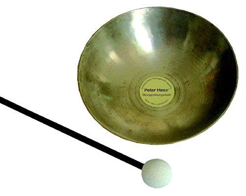 Original Peter-Hess®-Therapieklangschale: Mit Schlägel. Aus hochwertiger Bronze plus zusätzlich 10 Metallen