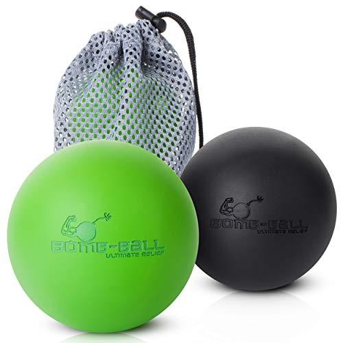 Bomb-Ball Duo Massage ball set by Ultimate Relief, Faszien + Lacrosse massage ball für die Ultimative Muskel Entspannung, Selbstmassage, Faszientraining + Triggerpunkt Therapie