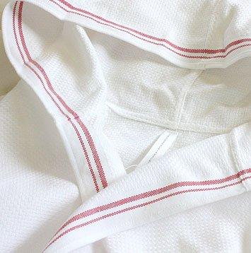 ハニカム織りバスローブひびのこづえ+丸栄タオル【H+Mシリーズ】【今治タオルブランド認定商品】ma003レッド