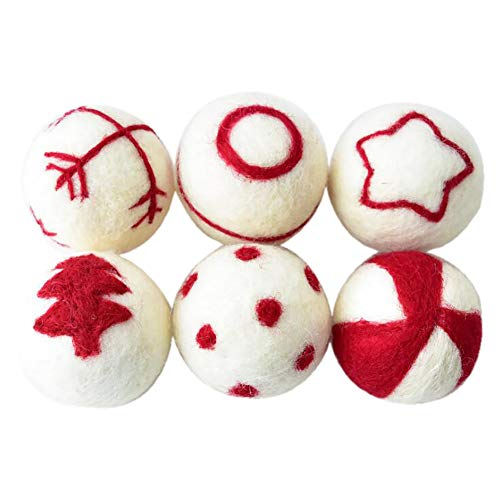 12 Pack Felt Balls Beads,100%Wool 30mm/60mm Felt Balls,Mixed Color Felt Ball,Handcrafts Project DIY Colourful Beads Christmas Decoration,Creative Crafts Such as Pom Pom Garland,Mobiles and Wreaths