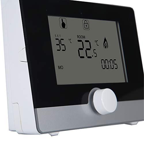 Regulador de temperatura del termóstato programable del LCD Digital para el equipo de calefacción eléctrico y el sistema de calefacción de la caldera de pared(Negro)
