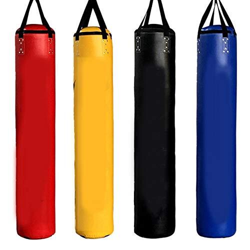 Meet World PU Heavy Duty Boxing Boxsack Ungefüllt Boxsack Mit Hängenden Kette Für MMA Muay Thai Kickboxen Training,Gelb,120cm