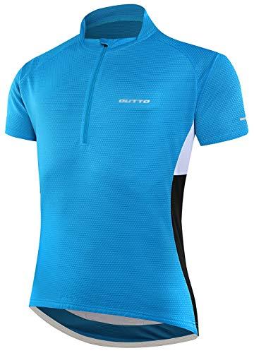 BORUO Donne Estate All'aperto T-Shirt,Uomo Ciclismo Jersey,Asciugatura Veloce Traspirante Manica Corta,Sport Fitness Camicia,Blue,L
