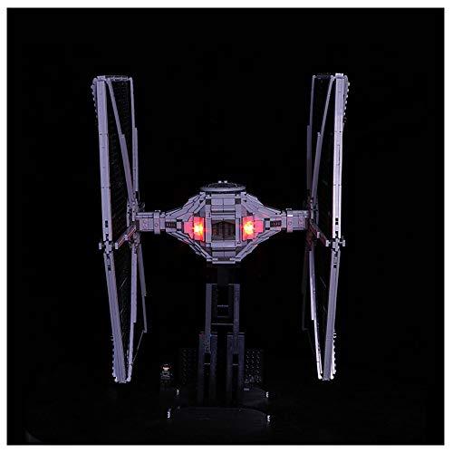 K99 Bloques de construcción Luminosa de Bricolaje, Compatible con Lego 75095 Star Wars Titanium Fighter, iluminación de Bloques de construcción LED (sin incluir Bloques)