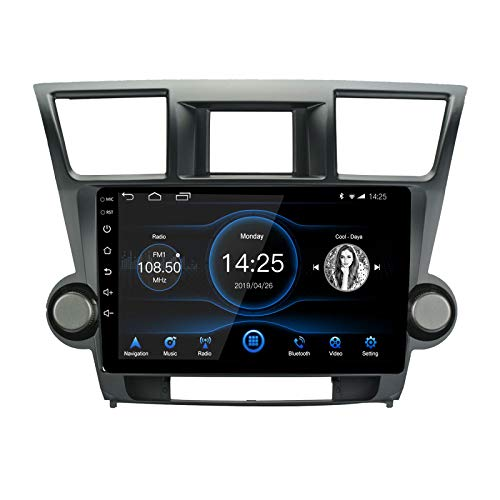 LEXXSON Android 10.1 Car Radio Stereo, 10''Capacitive Touch Screen High Definition Head Unit,Build-in Bluetooth USB Player DSP 2G+32G with Split Screen GPS Navigation for Toyota Highlander 2008-2012