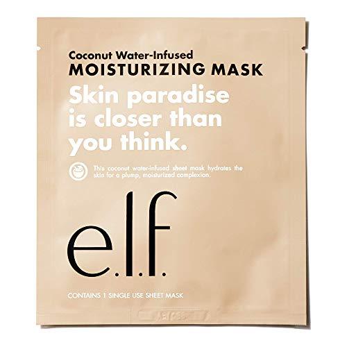 e.l.f. Coconut WaterInfused Moisturizing Sheet Mask, 1 sheet per package (91002)