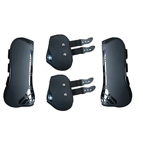 4 Stück Pferde-Sportstiefel, Neopren Pferdesehne Streichbandage, sicherer Beinschutz, Reitausrüstung für Springen, Reiten, Events, Dressur