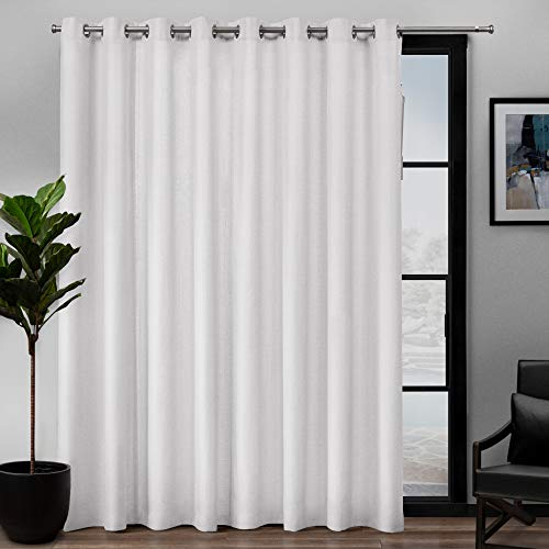 Exclusive Home Curtains Loha Single Curtain Panel, 108x84, Winter White